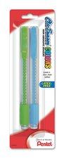 Pentel Clic Eraser, Clear, Color Erasers, 2 pack