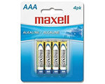 Maxell AAA Batteries, 4 pack
