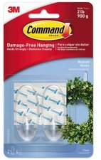 Command Crystal Hook Medium, 2 pack