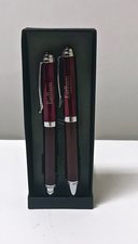 Earlham College Carbon Fiber Pen and Pencil Set