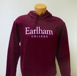 Earlham College Hooded Sweatshirt, Maroon