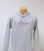 Earlham College Hooded Sweatshirt, Sport Grey