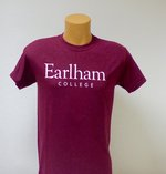 Earlham College Core T-Shirt, Maroon