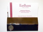 Earlham Seal Business Card Holder Gold