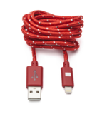 OnHand Cable Nylon USB Micro 5ft, Red