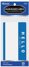 Hello Name Badge Labels, 25 pack