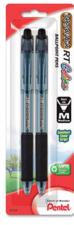 Pentel RSVP Medium Point Black, 2 pack
