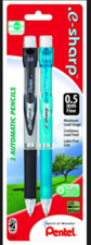 Pentel E-sharp Mechanical Pencil 0.5mm, 2 pack