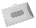 ID HOLDER-CLE3AR-BLANK-NON-IMPRINTED