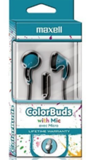 COLOR BUDS W/MIC BLUE