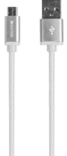 BRAIDED 6' MICRO USB CABLE - WHITE