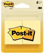 POST-IT - 1.5 X 2 SUN YELLOW 6/C