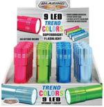 FLASHLIGHT -9 LED WITH TREND COLORS