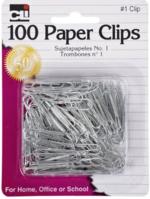 PAPER CLIPS, #1 GEM, 100CT