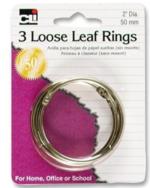 LOOSE LEAF RINGS- 3 PK
