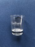 SHOT GLASS: 1.75 Oz. Clear - Earlham College - Etched