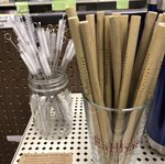 Bamboo Reusable Straw, Earlham College etch